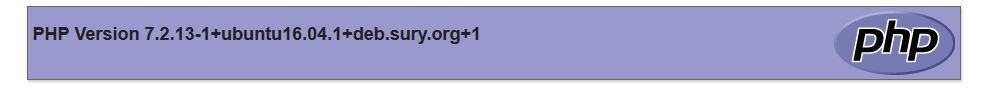 PHP version 7.2.13
