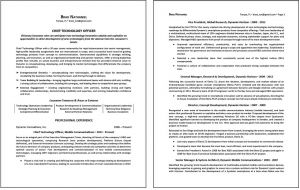 sample 2-paged resume